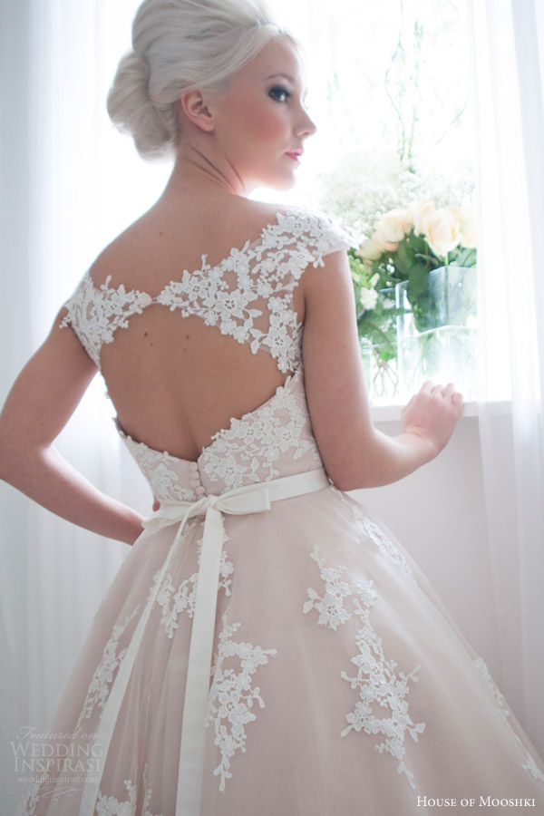 House of mooshki 2016 wedding dresses crazyforus for Lace cap sleeve keyhole back wedding dress