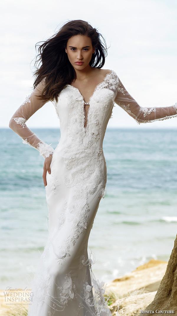 Bonita couture 2015 wedding dresses crazyforus for Long sleeve slim wedding dresses