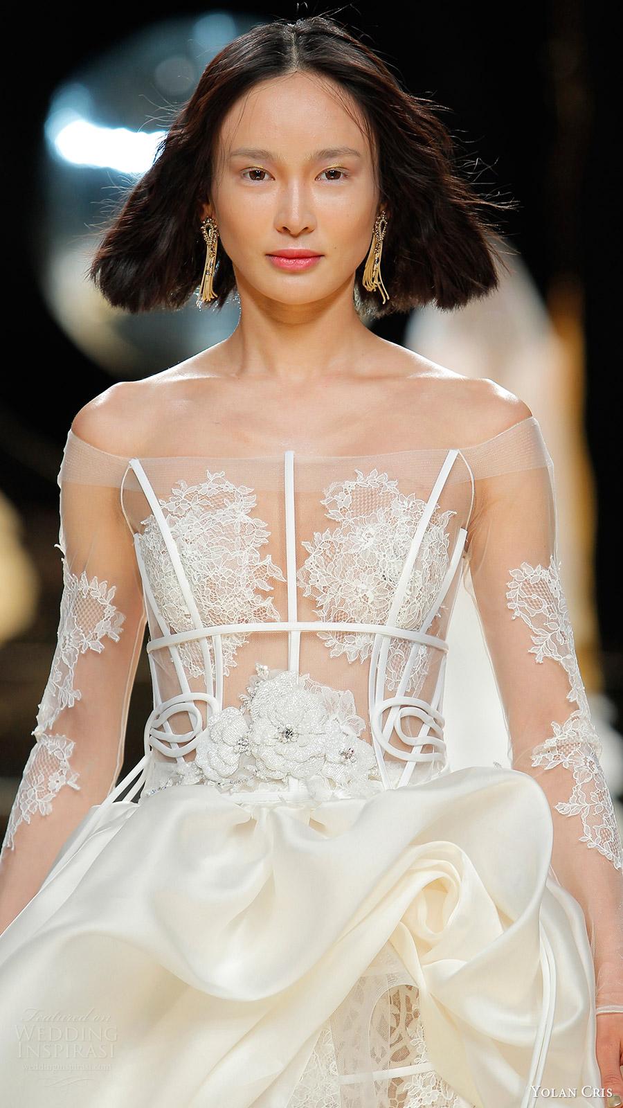Yolancris Long Sleeve Wedding Dress : The yolan cris bridal wedding dresses from inspirasi
