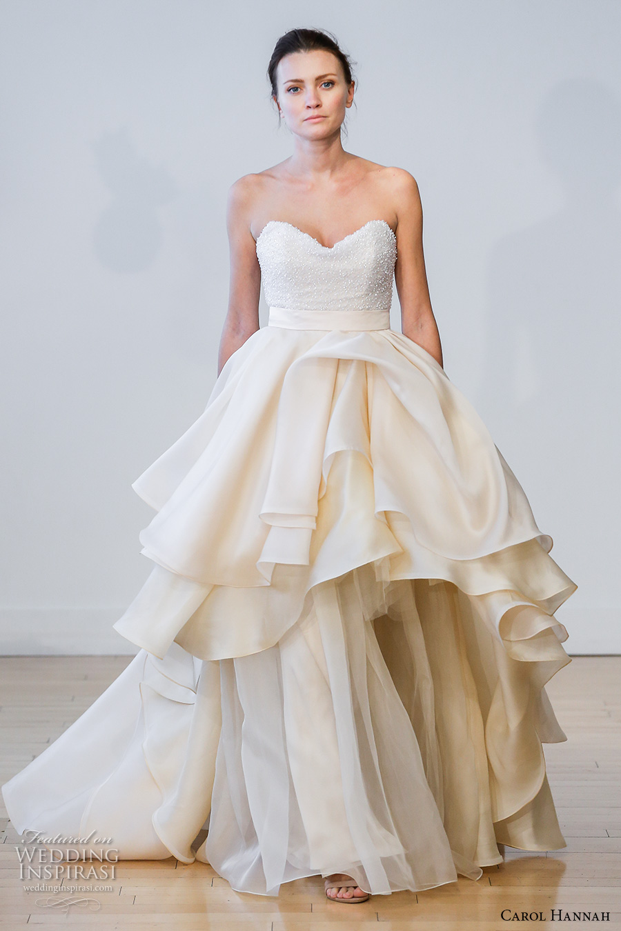Carol hannah 2017 wedding dresses crazyforus for Strapless bustier for wedding dress