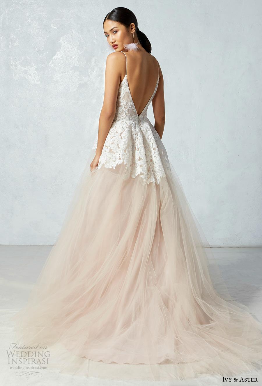 Blush Low Back Wedding Dress : Ivy aster fall wedding dresses crazyforus