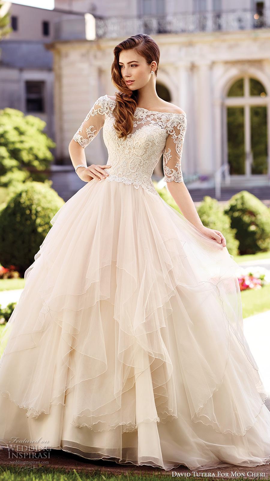 David tutera for mon cheri spring 2017 wedding dresses for Dresses for wedding guests spring 2017