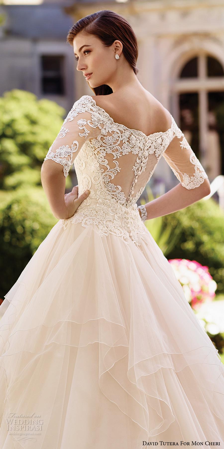 David tutera for mon cheri spring 2017 wedding dresses for David s bridal princess wedding dresses