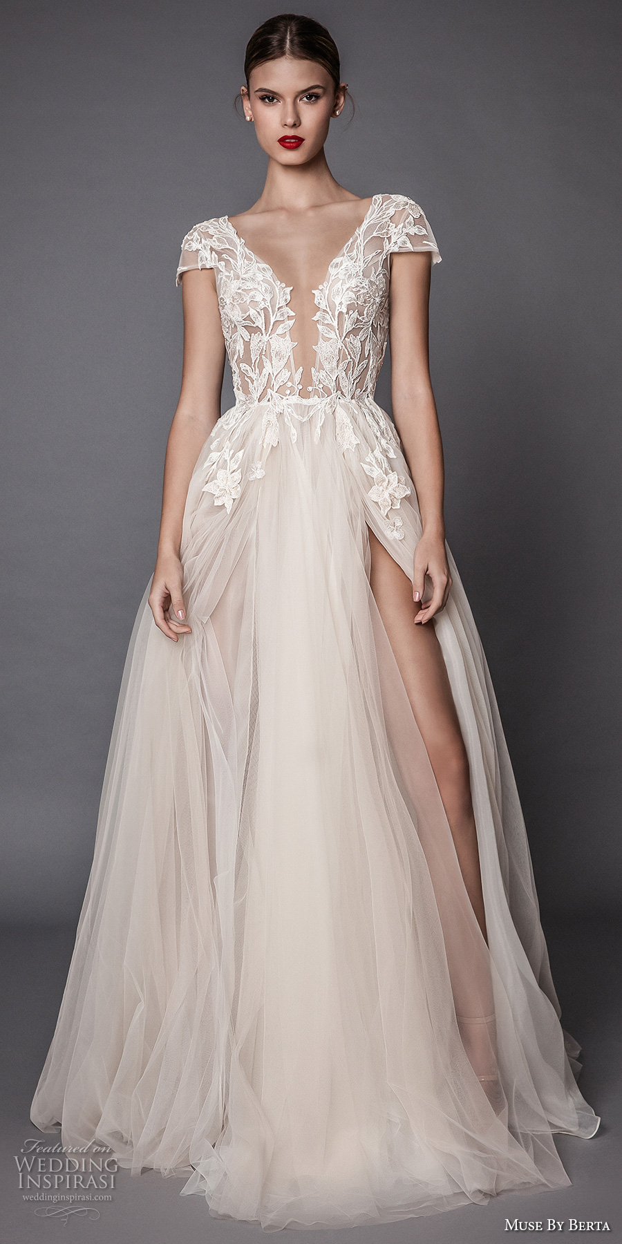 Muse by berta fall 2017 wedding dresses part 1 crazyforus for Fall lace wedding dresses
