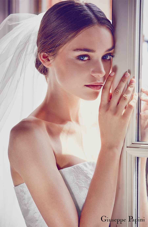 giuseppe papini 2017 (santa margherita) strapless straight across lace wedding dress zv veil