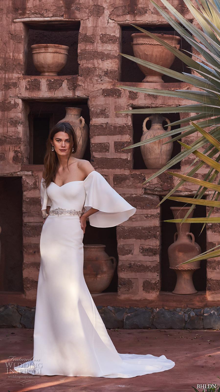 bhldn spring 2017 bridal off the shoulder strapless sweetheart neckline simple clean elegant bohemian a line wedding dress chapel train (sascha) mv