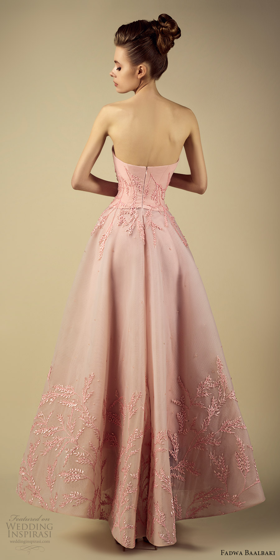 fadwa baalbaki spring 2017 couture strapless straightacross a line high low pink gown (5) bv