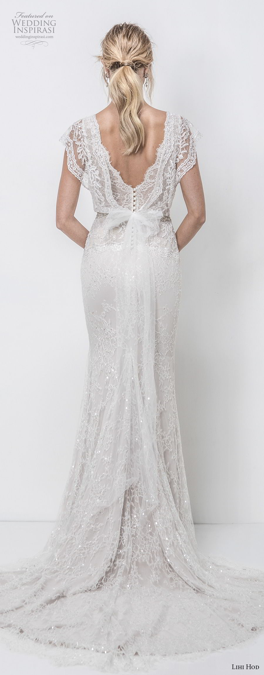 Lihi hod fall 2018 wedding dresses crazyforus for Butterfly back wedding dress