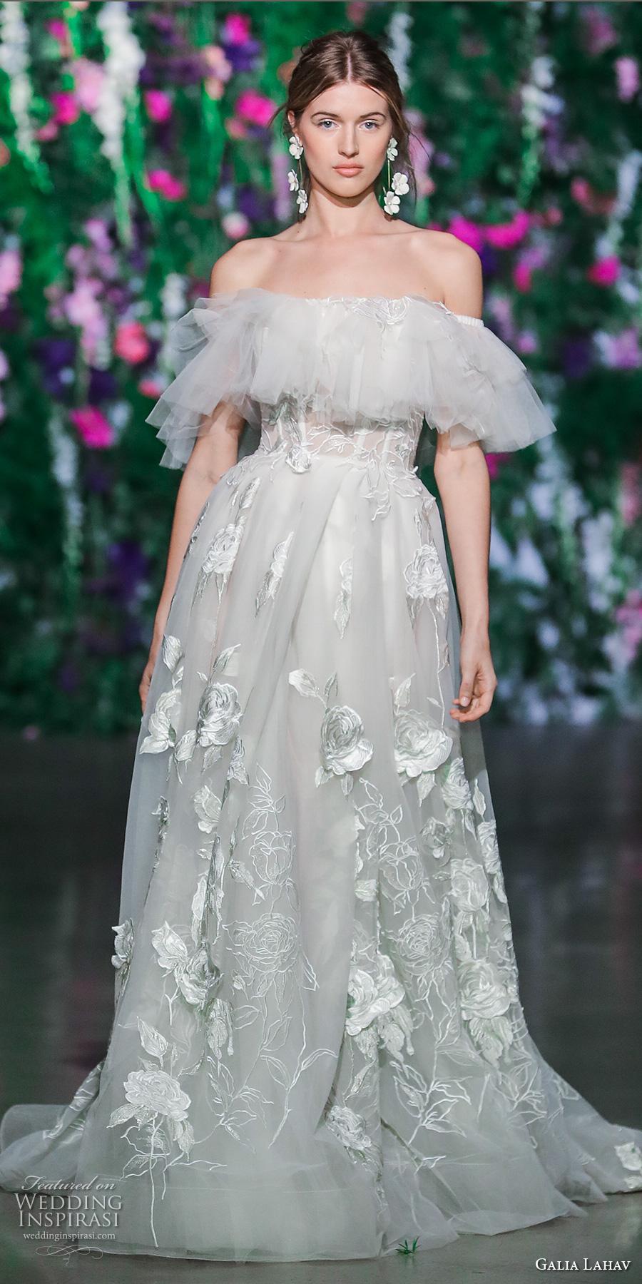 galia lahav fall 2018 bridal off the shoulder full embellishment full embellishment romantic a line wedding dress (1) mv