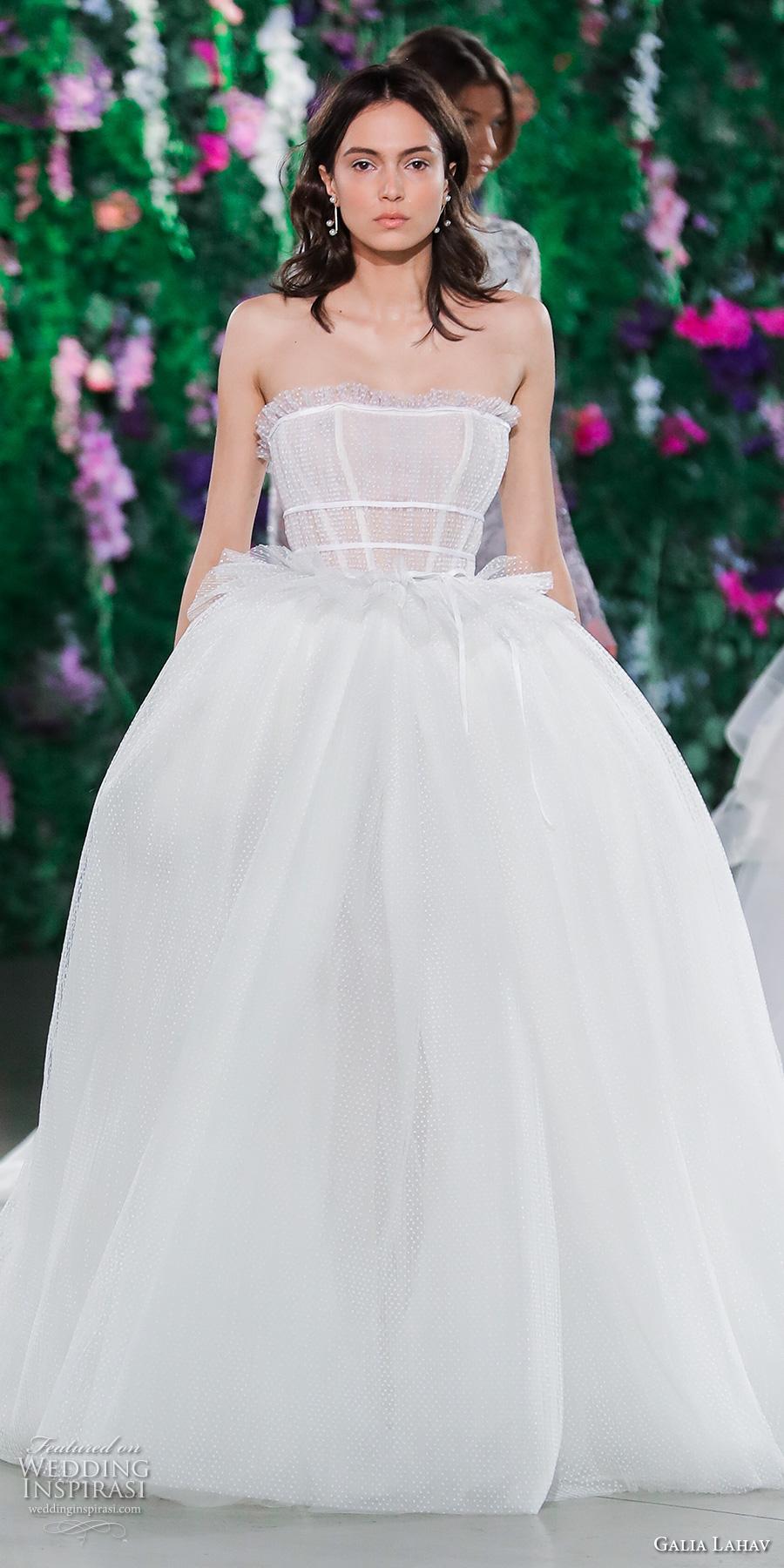 galia lahav fall 2018 bridal straight across heavily embellished bodice romantic ball gown a line wedding dress (17) mv