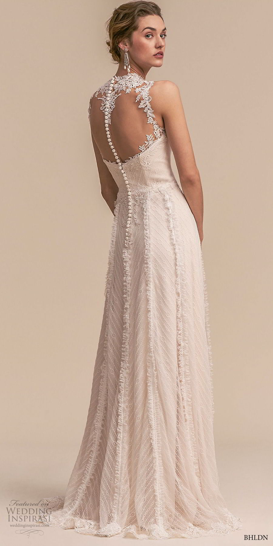 bhldn 2018 whispers bridal sleeveless illusion jewel sweetheart neckline full embellishment romantic a line wedding dress sheer button back sweep train (2) bv
