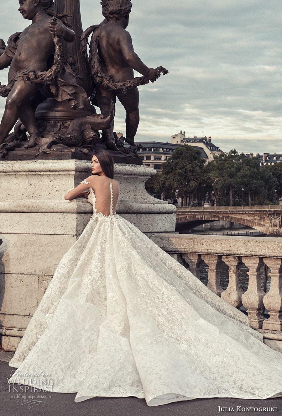 julia kontogruni 2018 bridal off the shoulder sweetheart neckline princess ball gown wedding dress sheer button back royal train (3) bv
