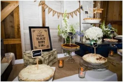 22 Cozy Pie Bar Ideas For Your Wedding