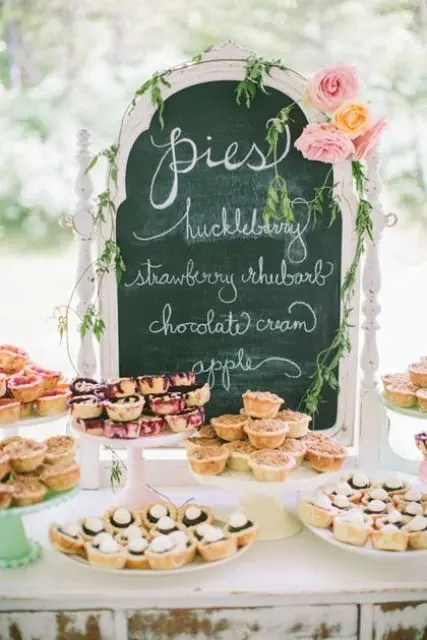 Cozy Pie Bar For Your Wedding
