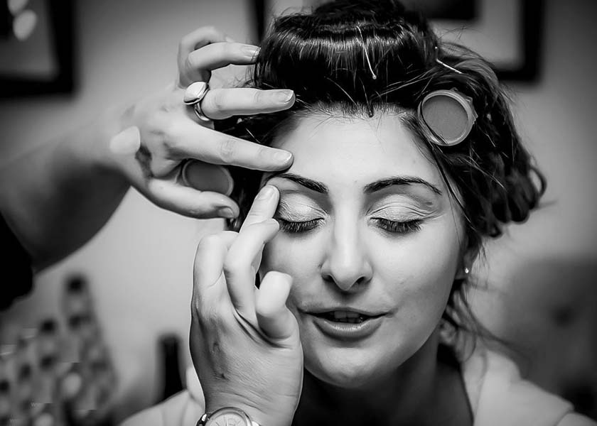 Bride getting ready Stirk House Hotel