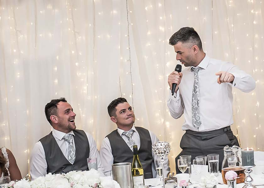 speeches at Stirk House Hotel wedding