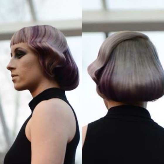 Front and Back of hair.