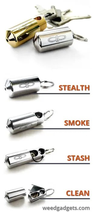 Stealth keychain pipe on Weedgadgets.com
