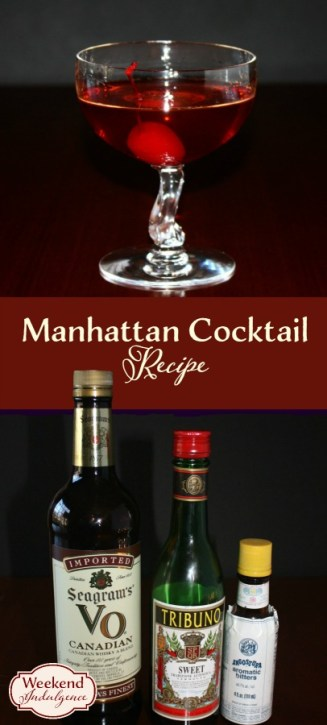 Manhattan: This simple cocktail only contain 4 ingredients.