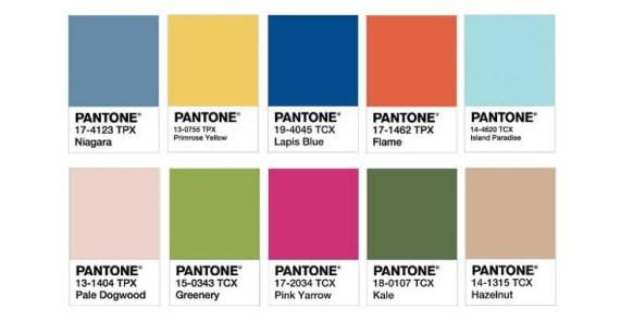 Resultado de imagem para pantone 2017 10 cores