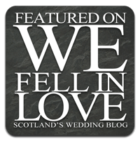 Featured on We Fell In Love - Scotland's Wedding Blog