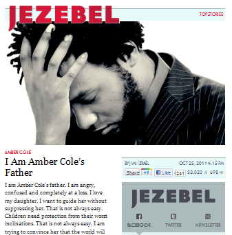 Jezebel channels The Spearhead with an odious piece on Amber Cole