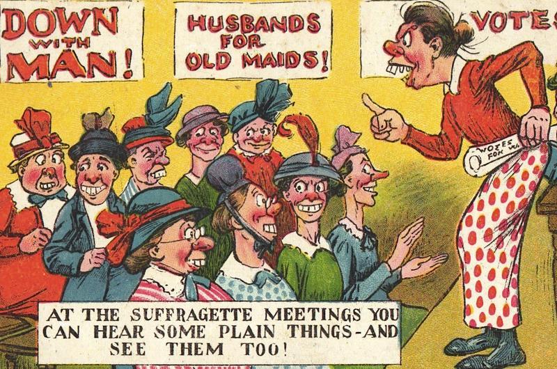 Anti-Suffrage Postcard Saturday