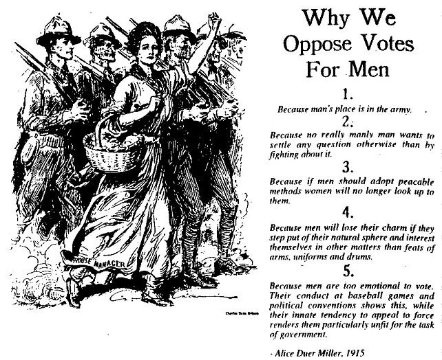 Should men be allowed to vote?