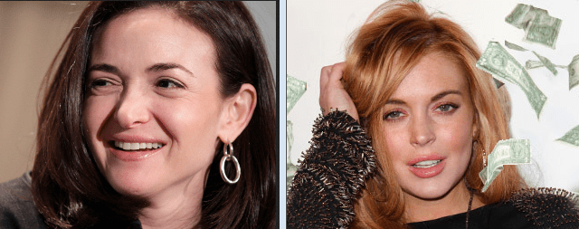 "MRA lackwit declares Sheryl Sandberg an ""arrogant Lindsay Lohan Look-a-like"" who ""promotes sexism, bias and hate."""