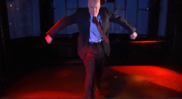 Antifeminist attorney, A Voice for Men contributor and and would-be Male Studies lecturer Roy Den Hollander bustin' a move on the Colbert Report.