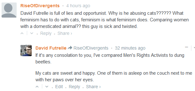 The Catster Debates: Or, I inadvertently bring MRAs to an innocent cat website