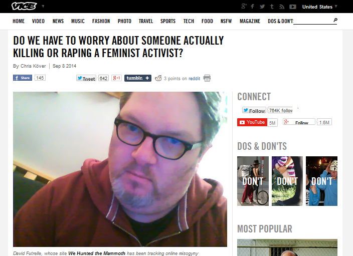 Check out my interview on Vice about harassment of women online