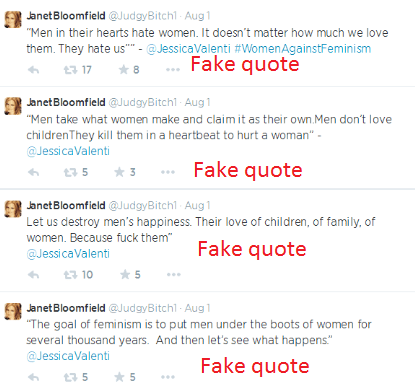 "Janet ""JudgyBitch"" Bloomfield tries to lie her way out of a Twitter suspension; here's proof of her targeted abuse"