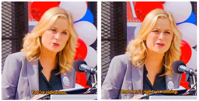 The ridiculous Men's Rights Activists on last night's Parks and Rec? Nowhere near as ridiculous as real MRAs