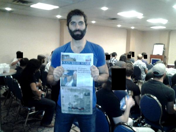 Roosh V apparently gives talk to small group of men ashamed to show their faces in public, declares victory