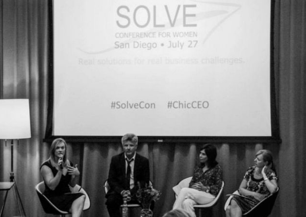 ChicCEO: Excluding men from events for women by including them. Wait a second ... .