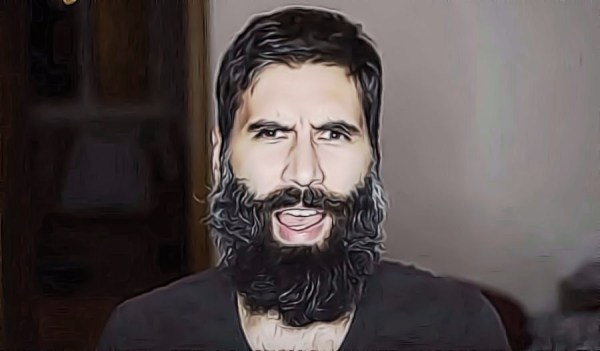 Roosh V, slowly being eaten by a beard