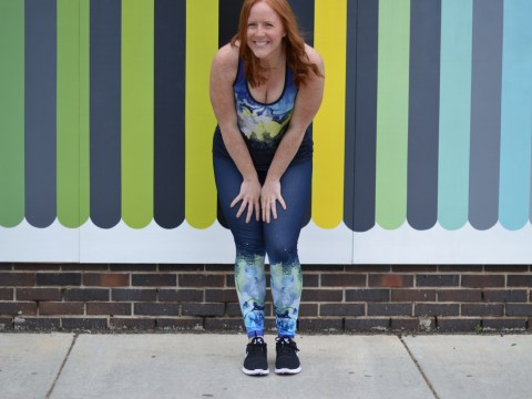 Athleta outfit WPAC wall