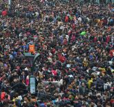 Line of Passengers Train Station China Lunar New Year