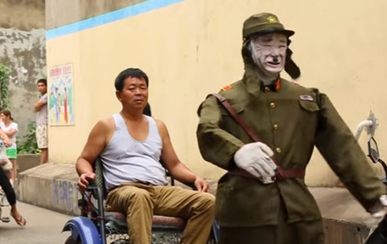 Robotic Japanese Rickshaw Driver May Be Strangest WWII Memorial