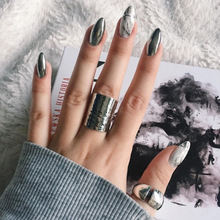 How to do marble nail art   plus image inspiration   Well Good Thumbnail for This major nail trend takes its inspiration from healthy  Instagram