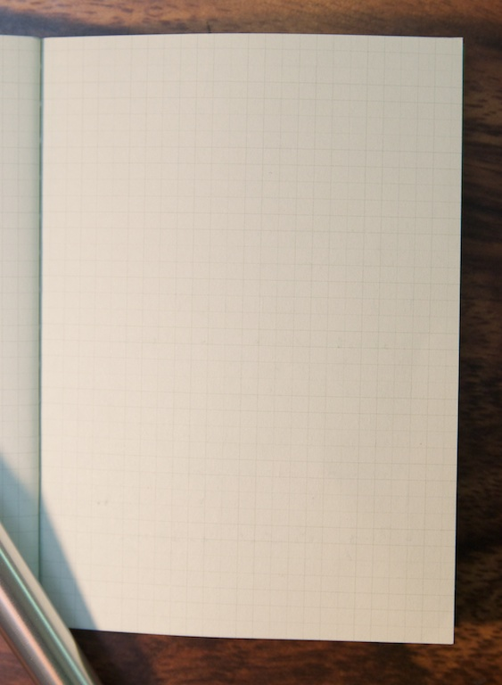 reverse of writing sample, Mini Notebooks