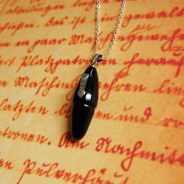 tiny fountain pen necklace