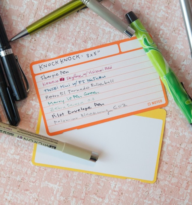Knock Knock Index Cards Writing Samples