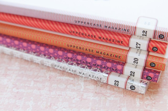 Uppercase magazine spines