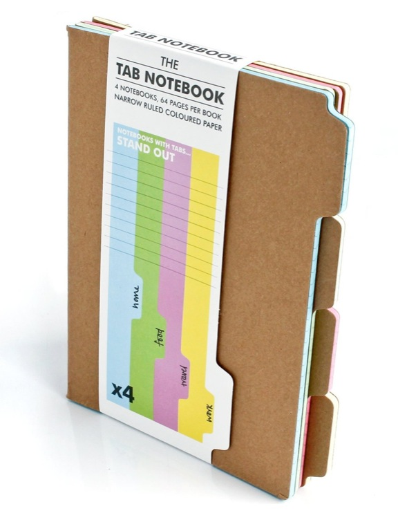The Tab Notebook Set by SUCK UK