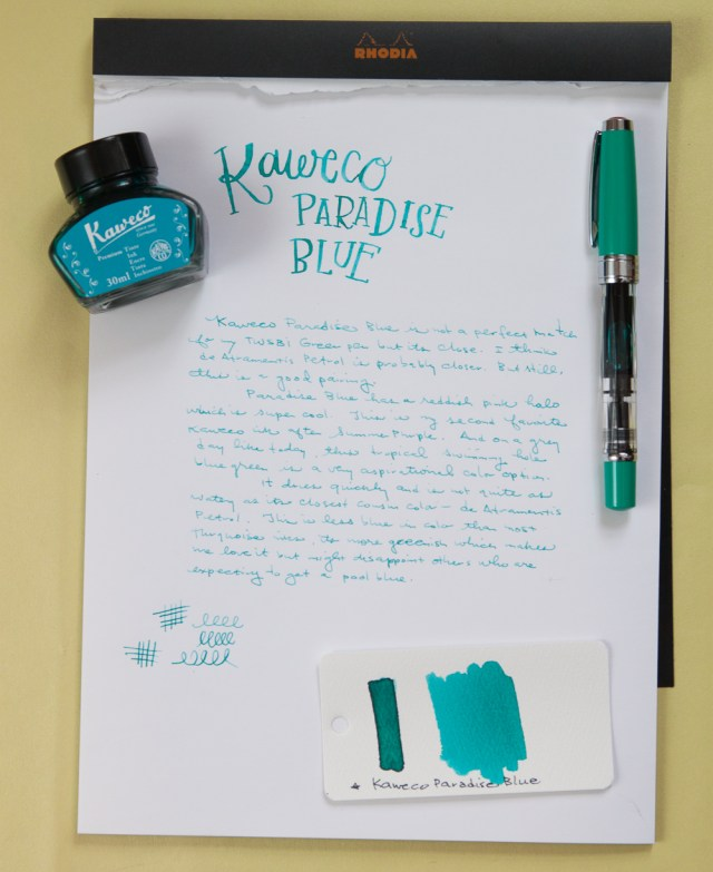 Kaweco Paradise Blue ink