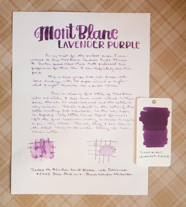 Montblanc Lavender Purple
