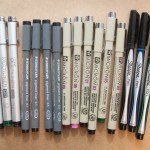 Pigment Pen Comparison (AKA  Archival, Waterproof, Felt Tip Pens)