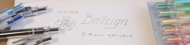 Sakura Ballsign 0.4 pen header